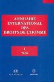 Annuaire international des droits de l'homme - Couverture - Format classique