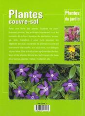 Plantes Couvre-Sol - 4ème de couverture - Format classique