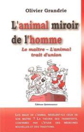 Animal miroir de l'homme - Couverture - Format classique