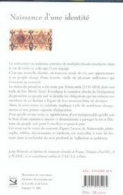 Naissance D'Une Identite ; Conversion Au Judaisme Dans L'Oeuvre De Maimonide - 4ème de couverture - Format classique