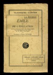 Emile ou de l'éducation / 1939 / Rousseau, Jean-Jacques / Réf1786 - Couverture - Format classique