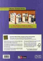 Français ; 4ème ; livre unique ; manuel (édition 2007) - 4ème de couverture - Format classique