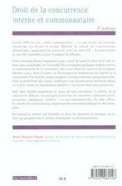 Droit de la concurrence interne et communautaire (3e édition) - 4ème de couverture - Format classique