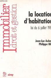La Location D'Habitation - Couverture - Format classique