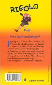 Rigolo t.7 ; qui a tague Charlemagne - 4ème de couverture - Format classique