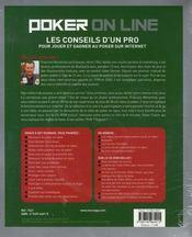 Poker on line - 4ème de couverture - Format classique