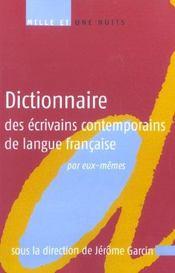 Dictionnaire des écrivains contemporains de langue française par eux-mêmes - Intérieur - Format classique
