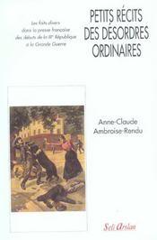 Petits récits des désordres ordinaires - Intérieur - Format classique