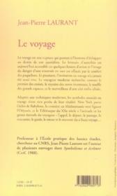 Le voyage - 4ème de couverture - Format classique