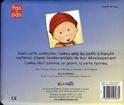 Caillou Decouvre ; Bonne Nuit - 4ème de couverture - Format classique