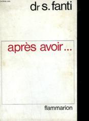 Apres Avoir. - Couverture - Format classique