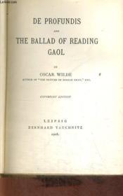 De Profundis And The Ballad Of Reading Goal - Couverture - Format classique