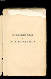 Le Merveilleux Voyage De Nils Holgersson A Travers La Suede - Couverture - Format classique