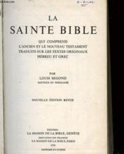 La Saitne Bible - Couverture - Format classique
