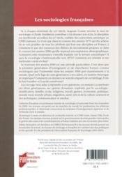 Les sociologies françaises ; héritages et perspectives, 1960-2010 - 4ème de couverture - Format classique