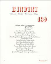 Revue L'Infini N.139 - Couverture - Format classique