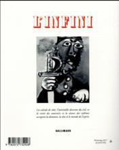 Revue L'Infini N.139 - 4ème de couverture - Format classique