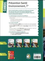 Les nouveaux cahiers ; prévention santé environnement ; terminale bac pro ; manuel de l'élève (édition 2018) - 4ème de couverture - Format classique