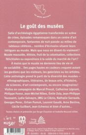 Le goût des musées - 4ème de couverture - Format classique