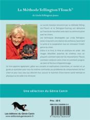 La méthode Tellington-TTouch ; offrez à votre chien confiance, bien-être, équilibre - 4ème de couverture - Format classique
