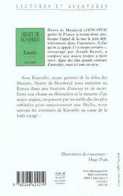 Karembo - 4ème de couverture - Format classique
