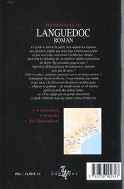 Promenades en languedoc roman - 4ème de couverture - Format classique