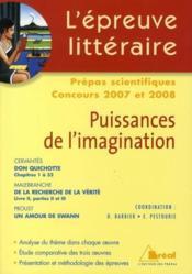 Puissances de l' imagination - Couverture - Format classique