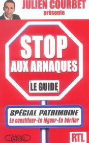 Stop aux arnaques ! special patrimoine - Intérieur - Format classique