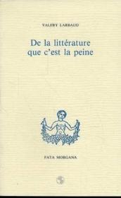 De La Litterature Que C'Est La Peine - Couverture - Format classique