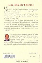 Lettre De Thomas - 4ème de couverture - Format classique