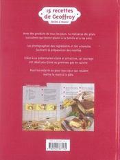 15 recettes de Geoffroy - 4ème de couverture - Format classique