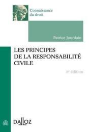 Les principes de la responsabilité civile (8e édition) - Couverture - Format classique