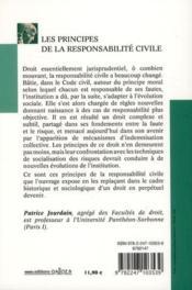 Les principes de la responsabilité civile (8e édition) - 4ème de couverture - Format classique