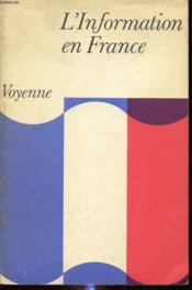 L Information En France - Couverture - Format classique