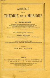 Abrege De La Theorie De La Musique - Couverture - Format classique