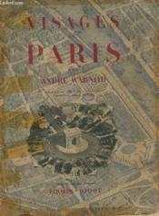 Visages De Paris - Couverture - Format classique