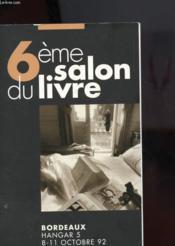 6e Salon Du Livre - Bordeaux - Couverture - Format classique