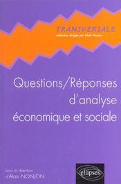 Questions/Reponses D'Analyse Economique Et Sociale - Intérieur - Format classique