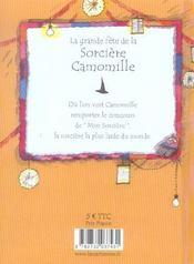 Grande Fete De La Sorciere Camomille (La) - 4ème de couverture - Format classique