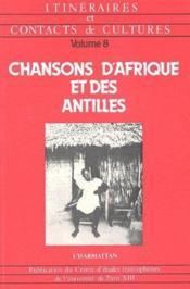 Chansons d'Afrique et des Antilles - Couverture - Format classique