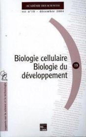 Biologie cellulaire - biologie du developpement (rst n. 19, decembre 2004) - Couverture - Format classique