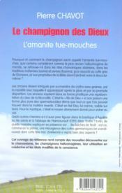 Le Champignon Des Dieux, L'Amanite Tue-Mouches - 4ème de couverture - Format classique
