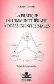 La pratique de l'immunotherapie a doses infinitesimales - Couverture - Format classique