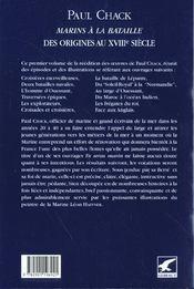 Marins à la bataille t.1 ; des origines au XVIIIe siècle - 4ème de couverture - Format classique