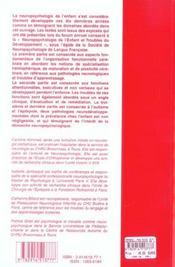 Neuropsychologie de l'enfant et troubles du developpement - 4ème de couverture - Format classique