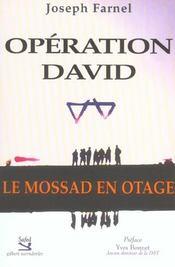 Operation David ; Le Mossad En Otage - Intérieur - Format classique