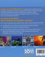 Le best of de Lonely Planet (édition 2011) - 4ème de couverture - Format classique