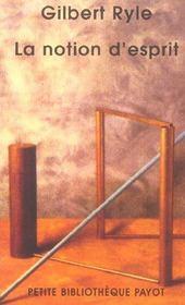 La Notion D'Esprit - Pbp N 568 - Intérieur - Format classique