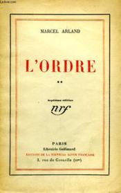 L'Ordre. Tome 2. - Couverture - Format classique