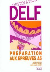 Destination Delf / A5 - Intérieur - Format classique